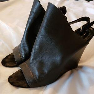 Balenciaga black wedges size 39.5